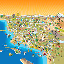 california map map of southern california drawing by dave stephens