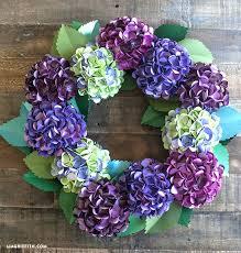 hydrangea wreath diy paper hydrangea wreath