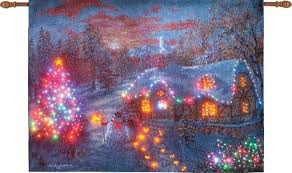 buy away from it all kinkade fiber optic wall hanging blankets