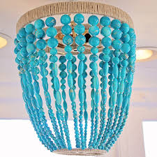 turquoise beaded chandelier ro sham beaux malibu turquoise beaded chandelier by ro sham beaux