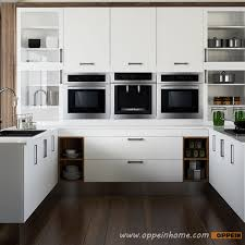 Black Lacquer Kitchen Cabinets Op15 M06 Modern Wood Grain Melamine And Lacquer Kitchen Cabinet