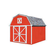 Home Depot Storage Sheds 8x10 by Handy Home Products Somerset 10 Ft X 8 Ft Wood Storage Building