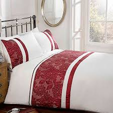 Embroidered Duvet Cover Sets Just Contempo Embroidered Duvet Cover Set Double Red At