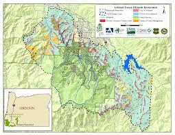 Oregon Wildfire Map by Ashland Forest All Lands Restoration Project Nrcs Oregon