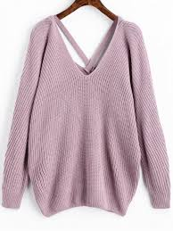 purple sweater v neck criss cross pullover sweater light purple sweaters one
