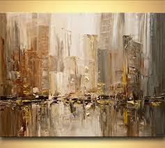 modern paint painting original contemporary city abstract modern palette