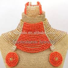 wedding bead necklace images Fashion unique design crystal beads jewelry nigerian crystal jpg