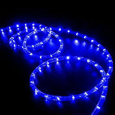 izzy creation 18ft blue led rope lights kit