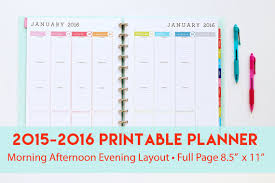 printable planner pages for 2015 14 best photos of 2016 free printable weekly planner pages 2016
