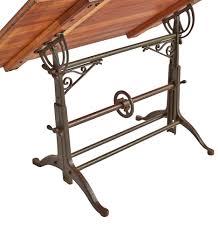 Iron Drafting Table Drafting Table W Cast Iron Legs Ornamental Brackets Rejuvenation