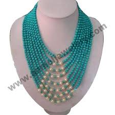 long pearl beaded necklace images Turquoise bead necklace precious stones gemstone jewelry jpg