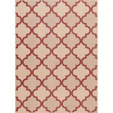 Red Area Rug by Upc 038698777508 Red And Beige Trellis 7 Ft 7 In X 10 Ft 10