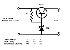 simple 12v to 9 7 5 or 6v converter power supply circuits