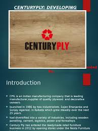 ppt on centuryply case study plywood brand