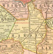 kentucky map hardin county kentucky 1905 map elizabethtown ky