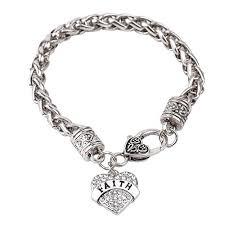 sterling silver crystal heart bracelet images Sterling silver bracelet women heart hand chain authentic crystal jpg
