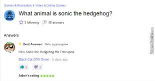 Sonic Gotta Go Fast Meme - sanic the porcupine gotta go fast by infernova meme center