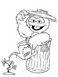 17 colouring pages kids images sesame