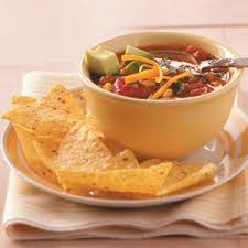 flavorful taco soup recipe taste of home
