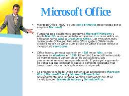 si e de microsoft historia de office