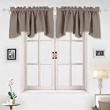 Curtains Valances Bedroom Amazon Com Deconovo Decorative Rod Pocket Blackout Curtains