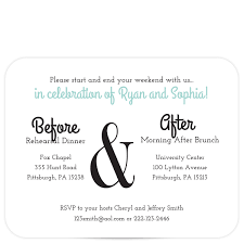 rehearsal brunch invitations dual event rehearsal dinner invitation pixie