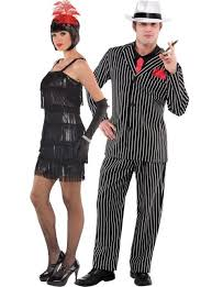 Johnny Cash Halloween Costume Flashy Flapper Mob Boss Couples Costumes Party