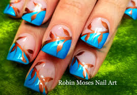 easy fall leaves nails diy autumn nail art design tutorial youtube