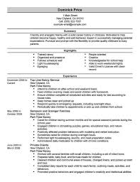 Resume Activities Examples Sample Nanny Resume Resume Cv Cover Letter