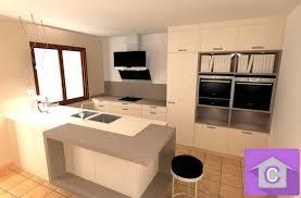 cuisine ouverte avec ilot central ordinary modele cuisine ilot central 4 cuisine leicht avec