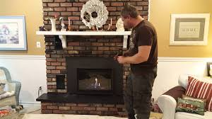 napoleon infrared 3 gas fireplace insert youtube