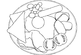 healthy plate coloring page fruits coloring pages crafts and worksheets for preschool