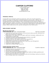 Sample Warehouse Resume by Warehouse Resume Samples Download Free Templates In Pdf And Word