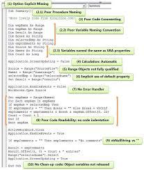 vba development best practices
