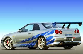 paul walker car collection brian o conner s nissan skyline r34 gt r 2 fast 2 furious