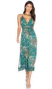 teal jumpsuit zimmermann tropicale crinkle jumpsuit in teal floral revolve