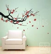 Vinyl Wall Decals For Nursery Cherry Blossom Wall Cherry Blossom Wall Decal Tree Wall Decal