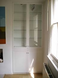 fitted alcove bookcase with lumilum warm white led strip lights