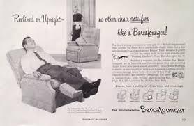 Vintage Recliner Chair 1959 Barcalounger Recliner 50 U0027s Reclining Chair Furniture Vintage