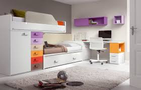 Cool Bunk Bed Designs And Colorful Bedroom Design With Bunk Beds Home