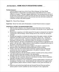 Home Health Care Job Description For Resume by Rn Job Description Sample Travel Nursing Resume Page 3 2014