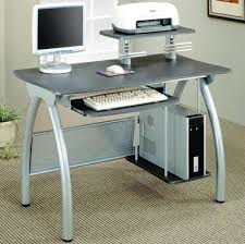 furniture modern small computer desk ideas with cpu stand best