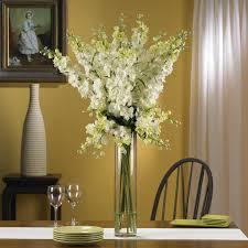 delphinium silk flower arrangement white walmart com