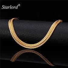 rose gold men necklace images Men long foxtail chain necklace 6mm width 32 39 39 length rose gold jpeg