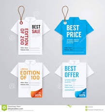 sale banners price tag paper card template shirt origami stock