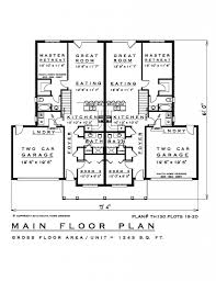 Townhouse Blueprints by 2 Bedroom Townhouse House Plan Th130 19 20 1245 Sq Feet