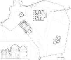 yildirim bayezid külliyesi floor plan of complex showing 1