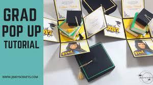 graduation box graduation exploding box with 3d books tutotial