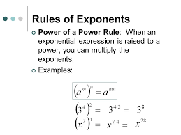 rules of exponents ppt video online download