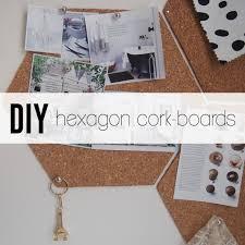 diy a quick and easy hexagon cork board